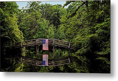 Patriotic Bridge Metal Print