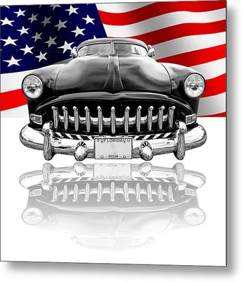 Patriotic Hudson 1952 Metal Print by Gill Billington