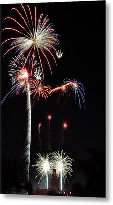 Metal Print featuring the photograph Patriotic Illumination by Kevin Munro