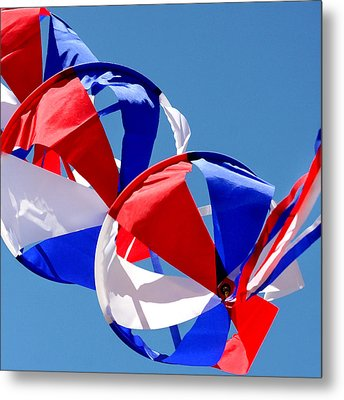 Patriotic Kite Metal Print by Art Block Collections