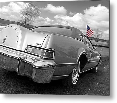Patriotic Lincoln Continental 1976 Metal Print by Gill Billington
