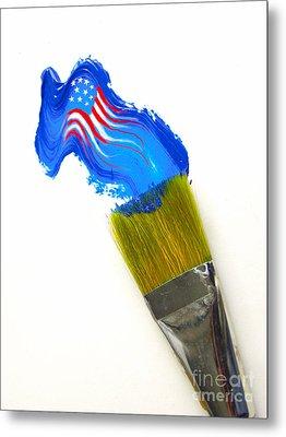 Patriotic Paint Metal Print by Diane Diederich