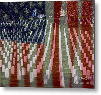 Patriotism Metal Print by Patti Whitten