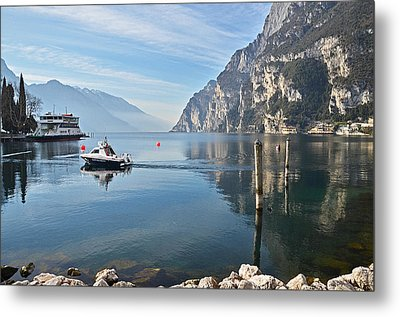 Patrol On The Lake  Metal Print