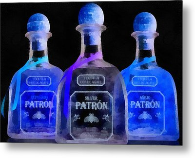 Patron Tequila Black Light Metal Print
