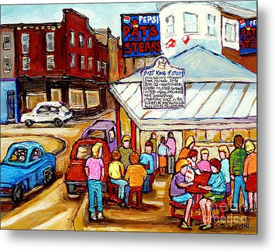 Pat's King Of Steaks Philadelphia Restaurant South Philly Italian Market Scenes Carole Spandau Metal Print by Carole Spandau