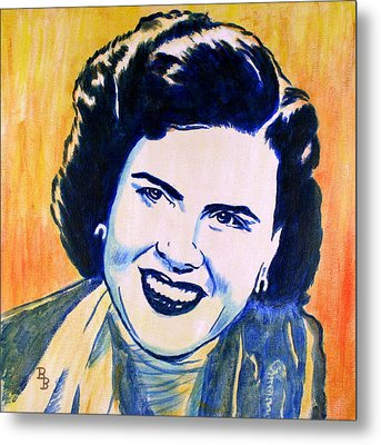 Patsy Cline Pop Art Painting Metal Print by Bob Baker