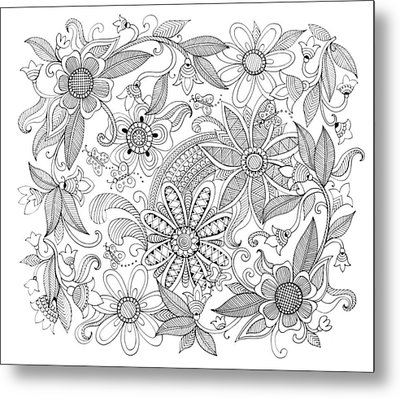Pattern 3 Metal Print by Neeti Goswami
