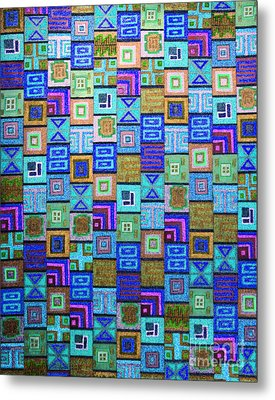 Metal Print featuring the drawing Pattern And Color Study2 by Megan Dirsa-DuBois
