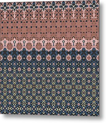 Patterns And Styles Metal Print