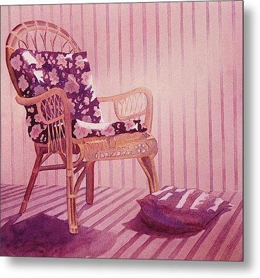 Metal Print featuring the painting Patterns In The Morning by John  Svenson
