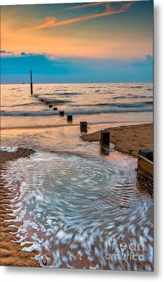 Patterns On The Beach  Metal Print by Adrian Evans