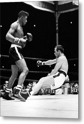 Patterson Knocks Out Johansson Metal Print by Underwood Archives
