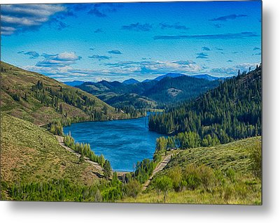 Patterson Lake In The Summer Metal Print by Omaste Witkowski