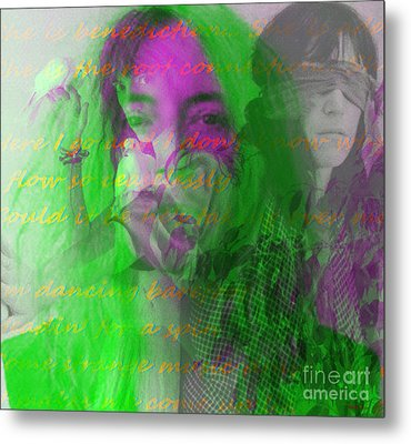 Patti Smith Dancing Barefoot Metal Print