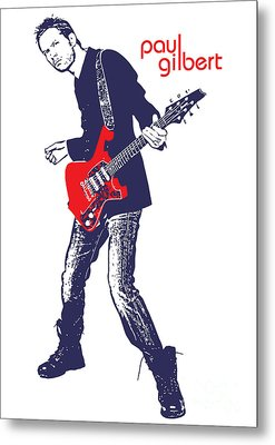 Paul Gilbert No.01 Metal Print by Caio Caldas