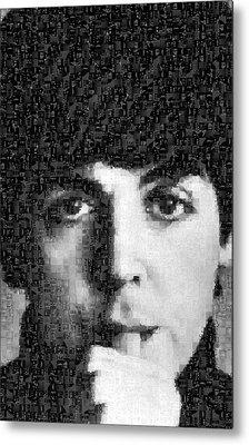 Paul Mccartney Mosaic Image 5 Metal Print