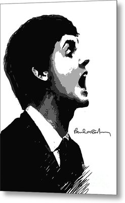 Paul Mccartney No.01 Metal Print by Caio Caldas