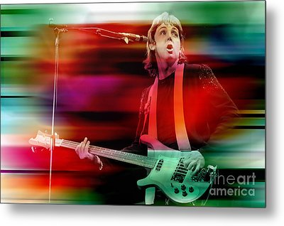 Paul Mccartney Then And Now Metal Print by Marvin Blaine
