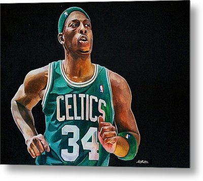 Paul Pierce - The Truth Metal Print by Michael  Pattison