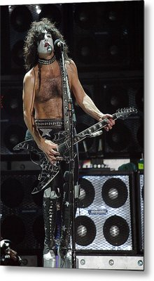 Paul Stanley Kiss Metal Print by Don Olea