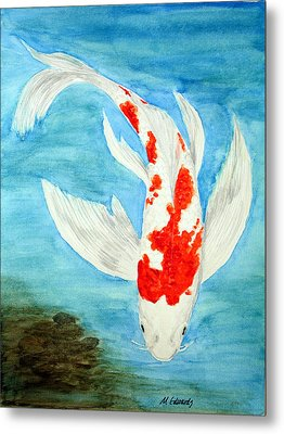 Paul's Koi Metal Print by Marna Edwards Flavell