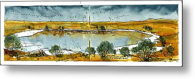 Metal Print featuring the mixed media Paul's Lake by Tim Oliver