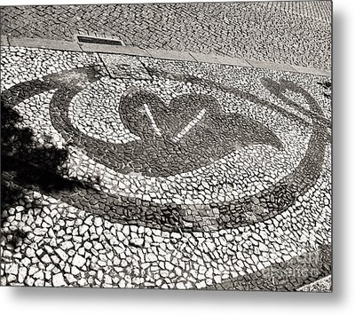 Metal Print featuring the photograph Pavement Detail Portugal by Menega Sabidussi
