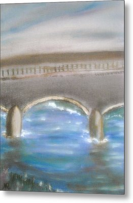 Pavia Covered Bridge - En Plein Air Painting Metal Print by Nicla Rossini
