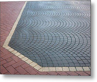 Paving Bricks Metal Print by Pete Trenholm