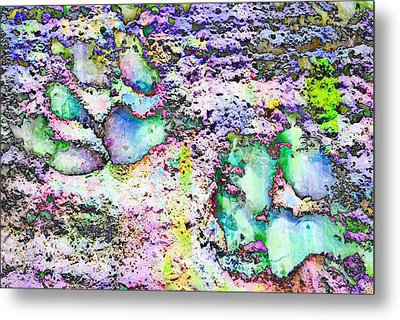 Paw Prints Vibrant Pastel Metal Print by Dorothy Berry-Lound