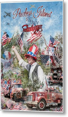 Pawleys Island 4th Of July Parade Metal Print
