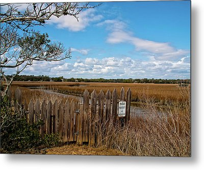 Pawley's Picket Fence Metal Print by Sandra Anderson