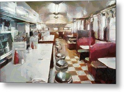 Pawtucket Diner Interior Metal Print by Dan Sproul