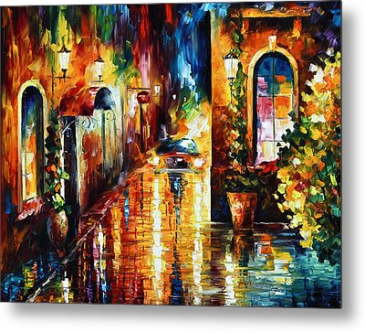Paying A Visit New Metal Print by Leonid Afremov