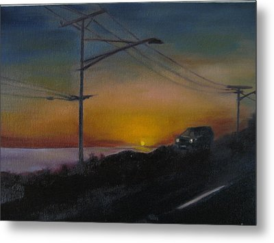 Pch At Night Metal Print