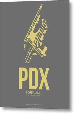 Pdx Portland Airport Poster 2 Metal Print