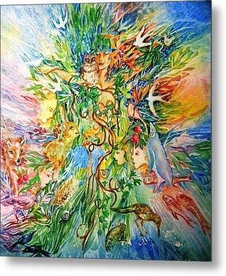 Peacable Kingdom No.2 Metal Print by Trudi Doyle