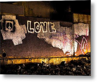 Peace And Love Under The Bridge Metal Print by Bob Orsillo