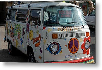 Metal Print featuring the photograph Peace And Love Van by Dany Lison
