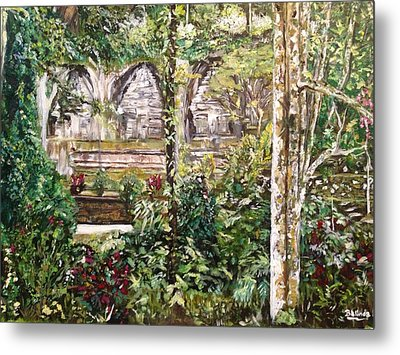 Metal Print featuring the painting Peace And Quiet by Belinda Low