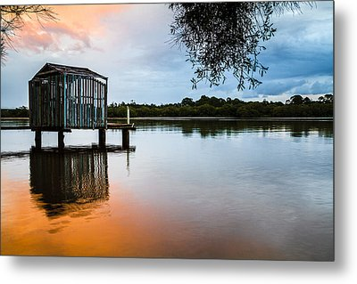Peace At Pete's Jetty Metal Print