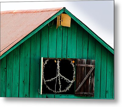 Peace Barn Metal Print by Bill Gallagher