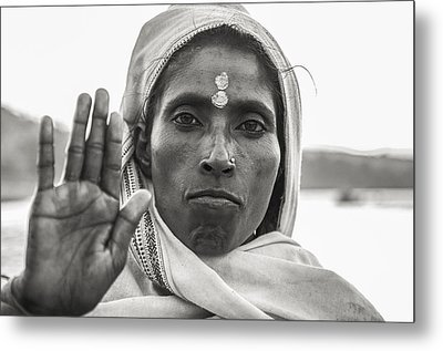 Peace Be With You Metal Print by Valerie Rosen