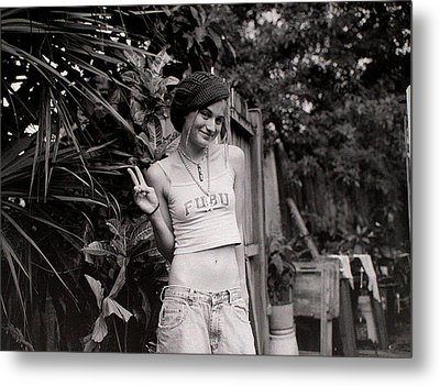 Metal Print featuring the photograph Peace Chick by Greg Allore