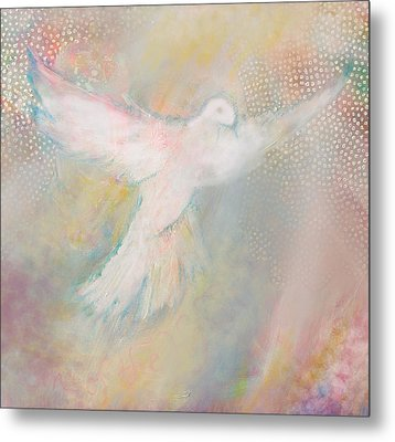 Peace Dove Metal Print by Anne Cameron Cutri