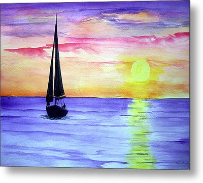 Metal Print featuring the painting Peace by Ellen Canfield