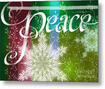 Peace Greeting Metal Print