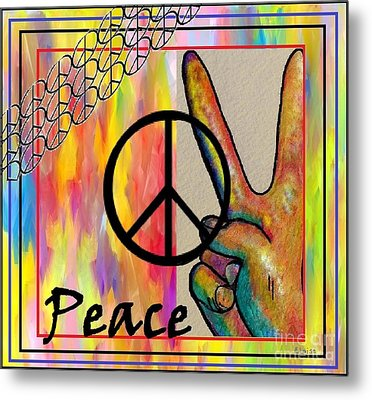 Peace In Every Color Metal Print by Eloise Schneider