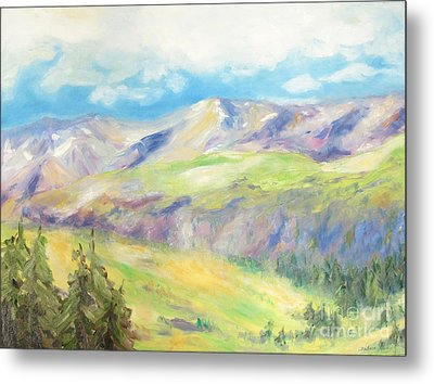 Peace In The Mountains Metal Print by Barbara Anna Knauf